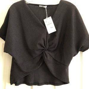 Zara knotted top - new with tags